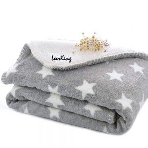 LeerKing Hundedecke Kuscheldecke für Katzen Kaninchen und alle Haustiere waschbar doppeilseitig für Sofa Bett und Körbchen 75 * 100cm/100 * 150cm